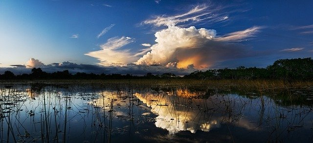 Everglades National Park with storm clouds gathering