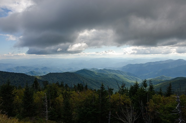 storm clouds over the Great Smoky Mountains