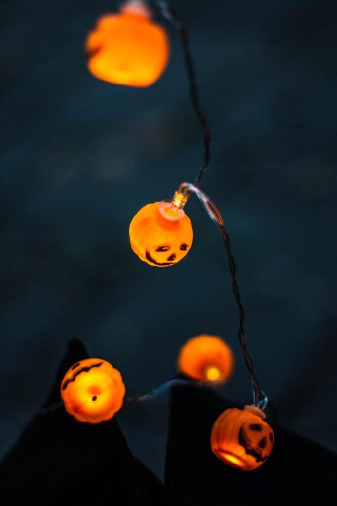 pumpkin fairy lights