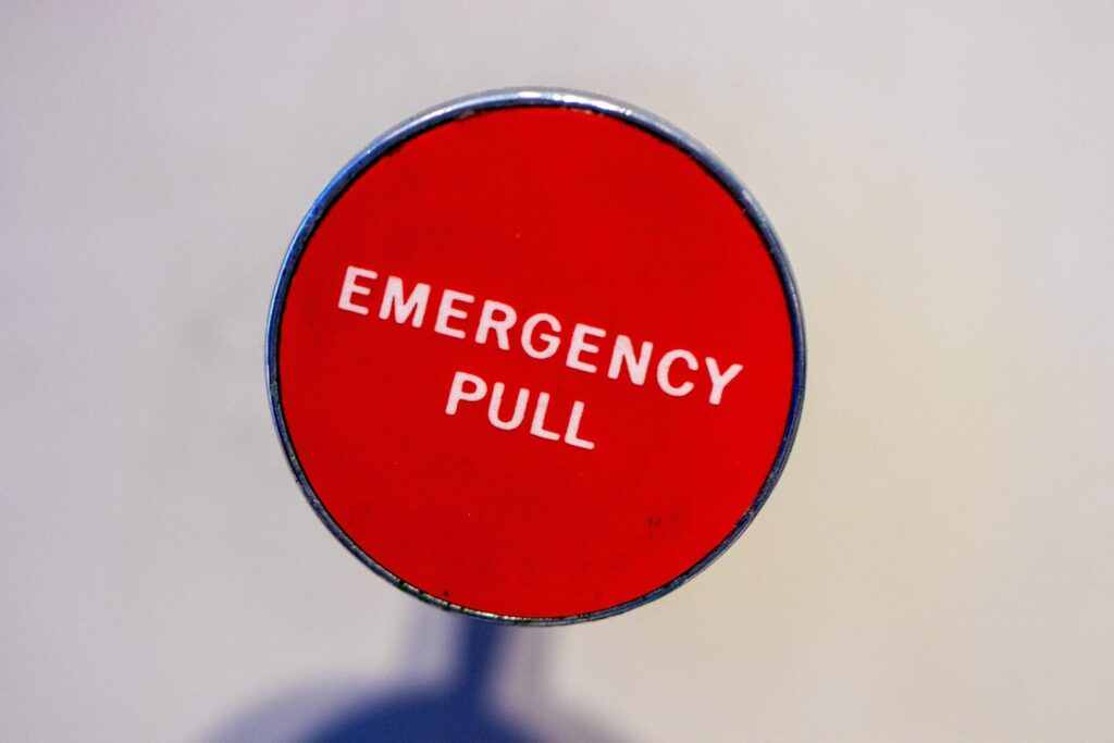 Emergency pull lever