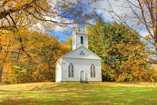 Quaint New England church in the Berkshires