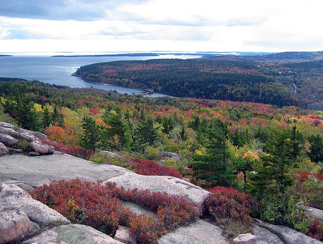 Acadia National Park with a riot of fall color