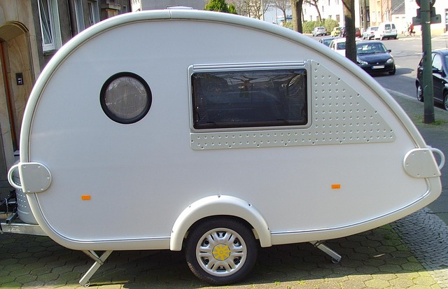 a camping teardrop trailer