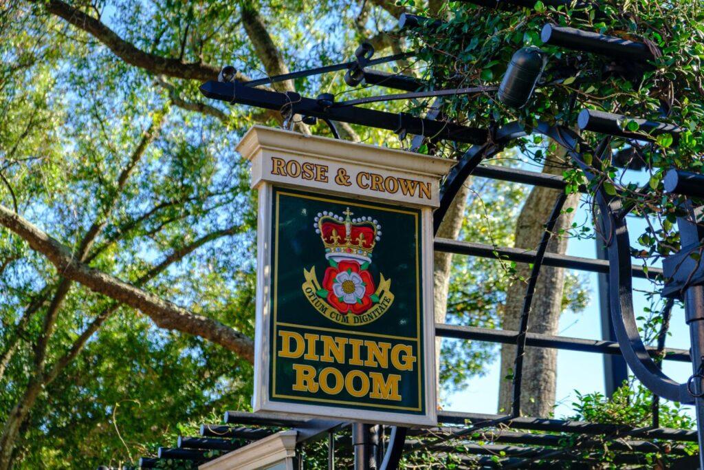 Sign for Disney World Restaurant