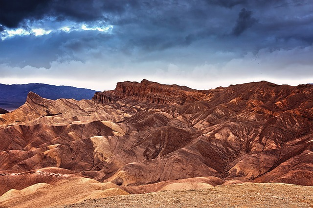 Death Valley National Park with clouds