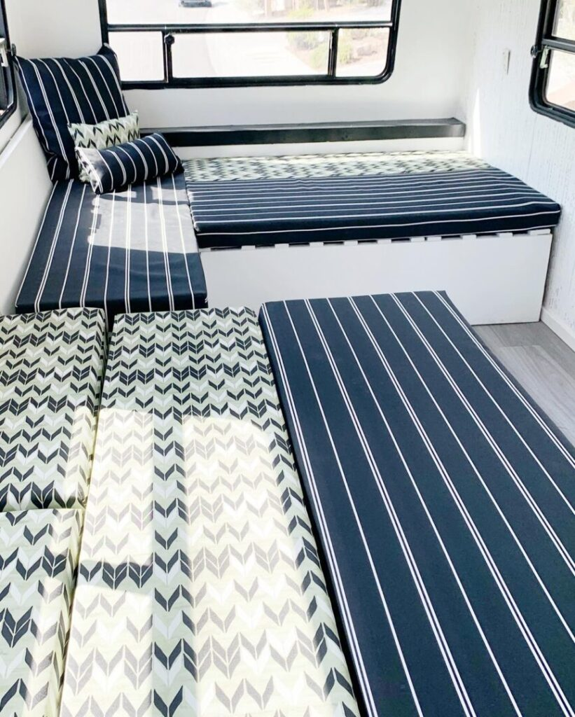 remodeled cushions in an rv