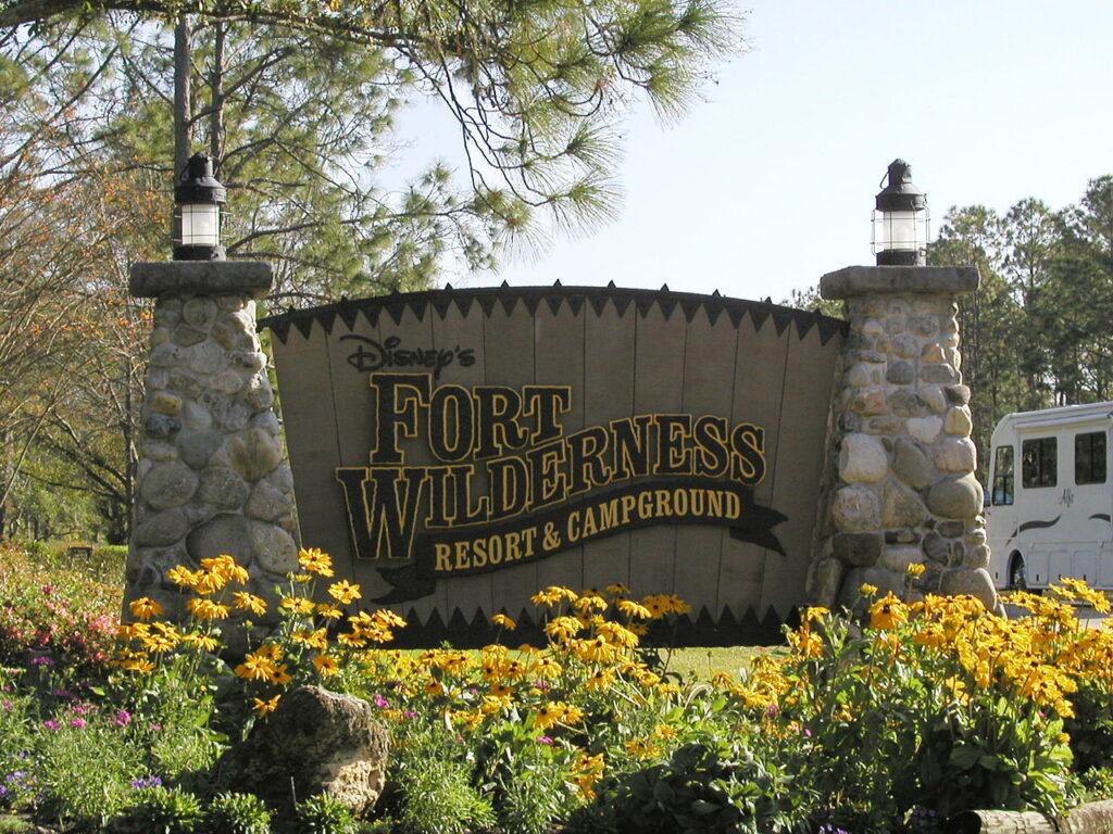 Fort Wilderness Campground Sign
