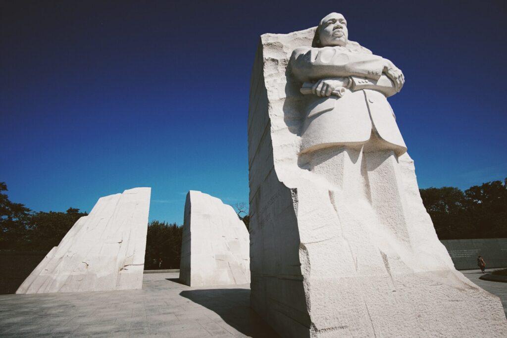 MLK Memorial, image of MLK in stone