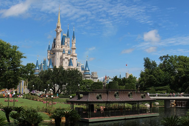 the castle at Walt Disney World