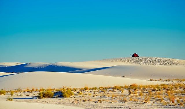 pristine white sand dunes at White Sands National Park