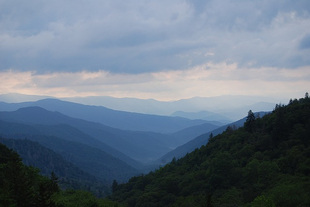 panoramic view of Great Smoky Mountains National Park