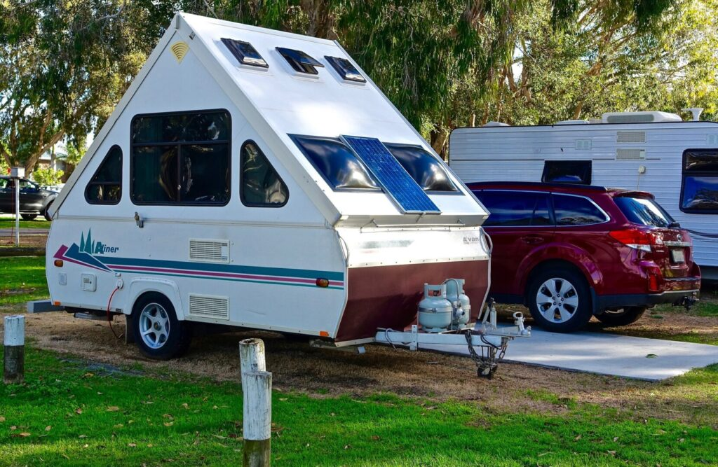 A-liner on campsite