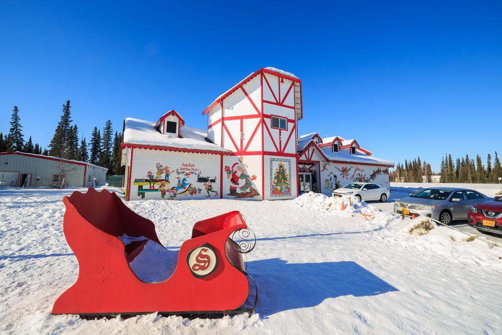 MAR 18, Fairbanks: The beautiful santa claus house on MAR 18, 2015 at Fairbanks