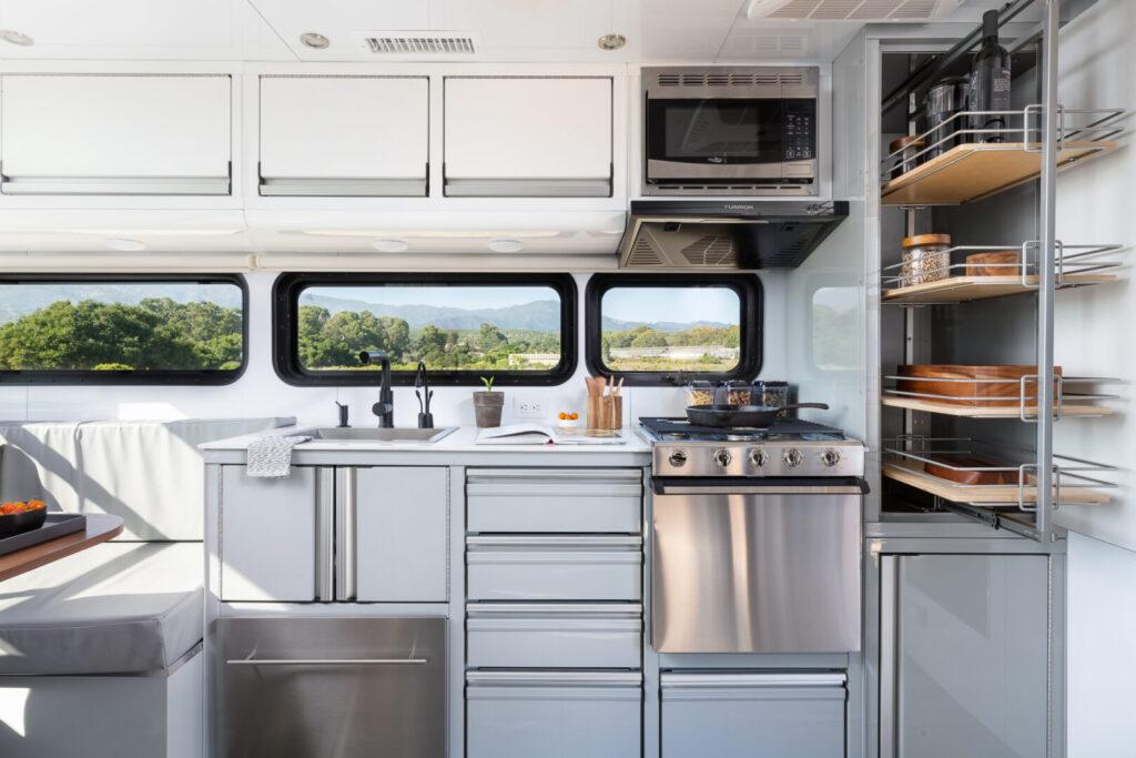 Kitchen travel trailer interior