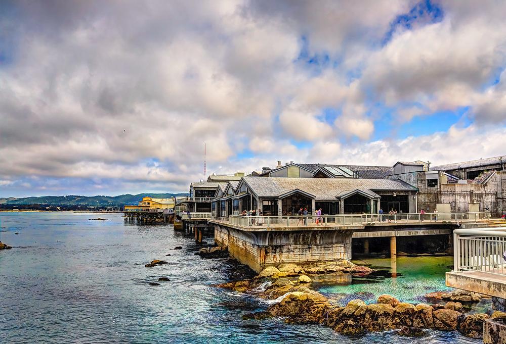 Monterey bay aquarium building - California shots - june