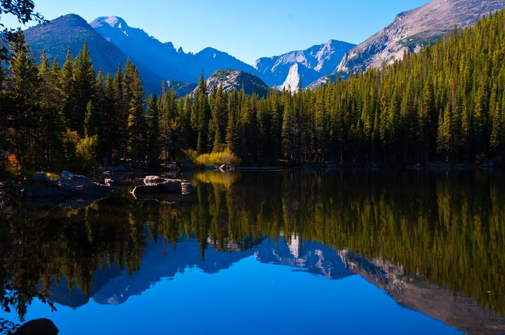 Brilliant reflections on Bear Lake, Rocky Mountain National Park , Colorado