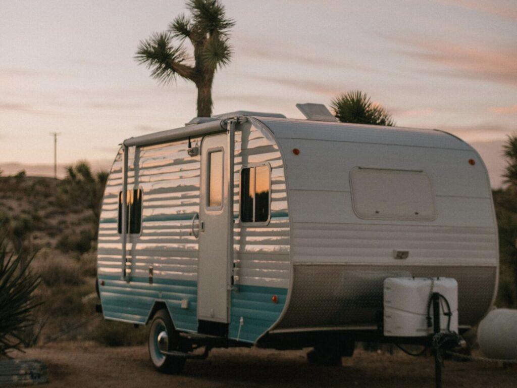 Small travel trailer