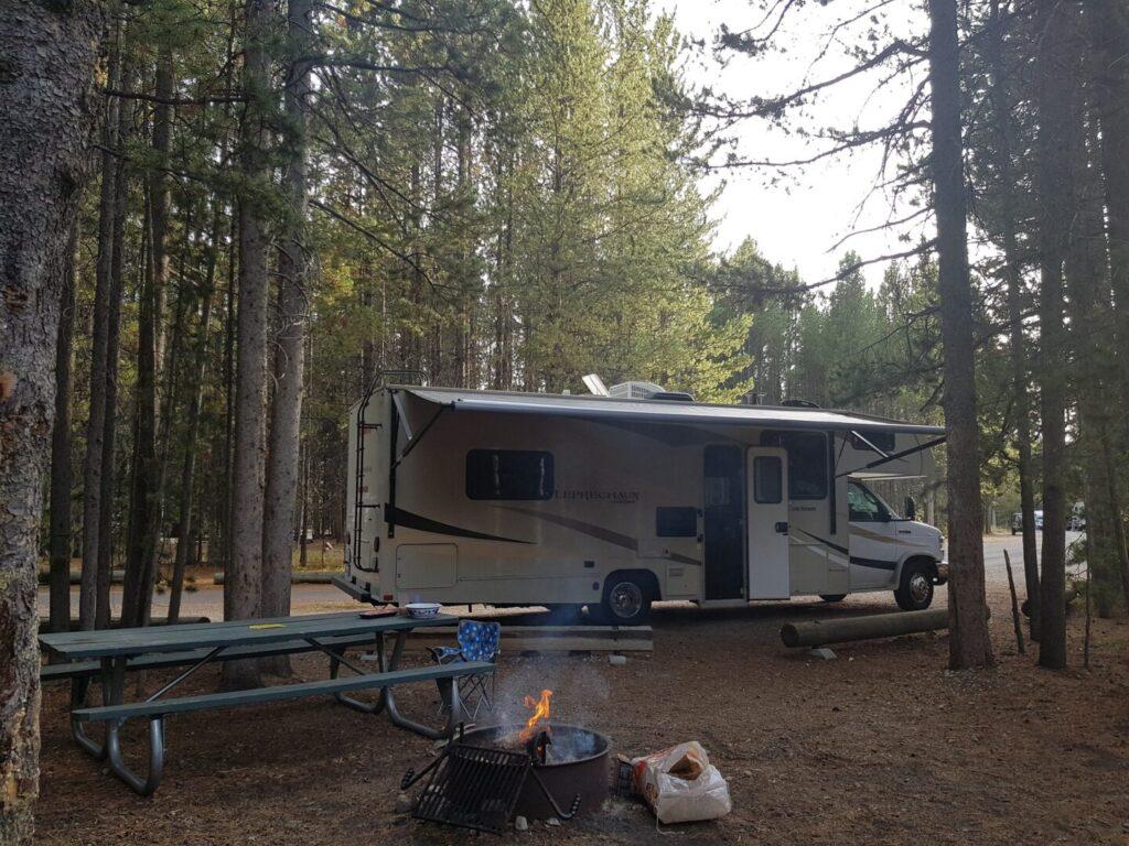RV on a campsite