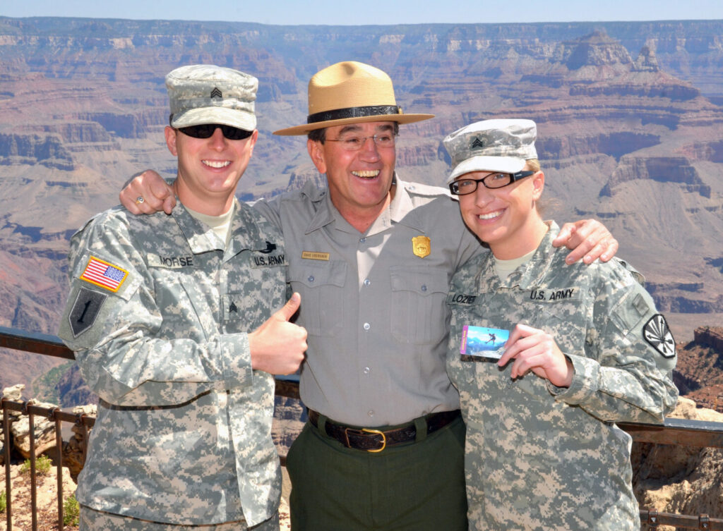 Soldiers Getting National Parks Military Passes