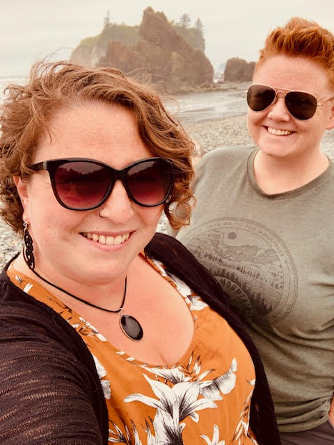 Selfie of wives at Ruby Beach Olympic NP