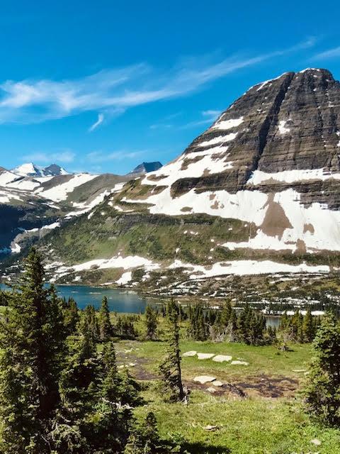 Sunny day at Hidden Lake Glacier national park