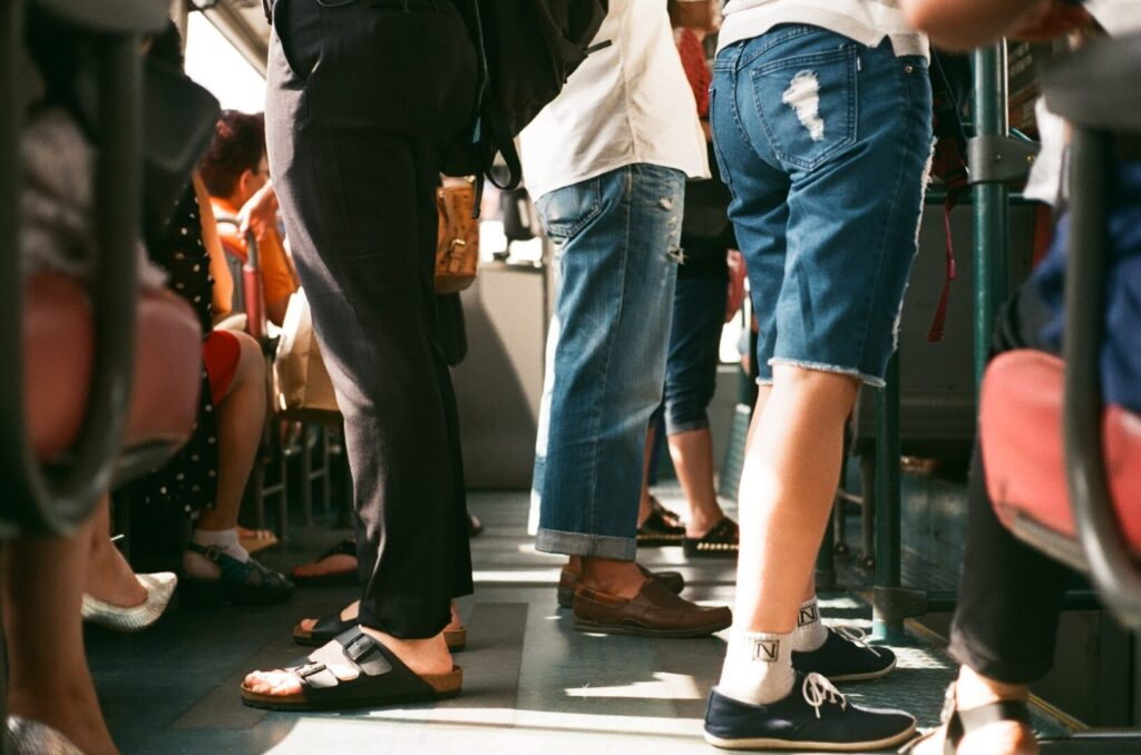 People Riding a Subway