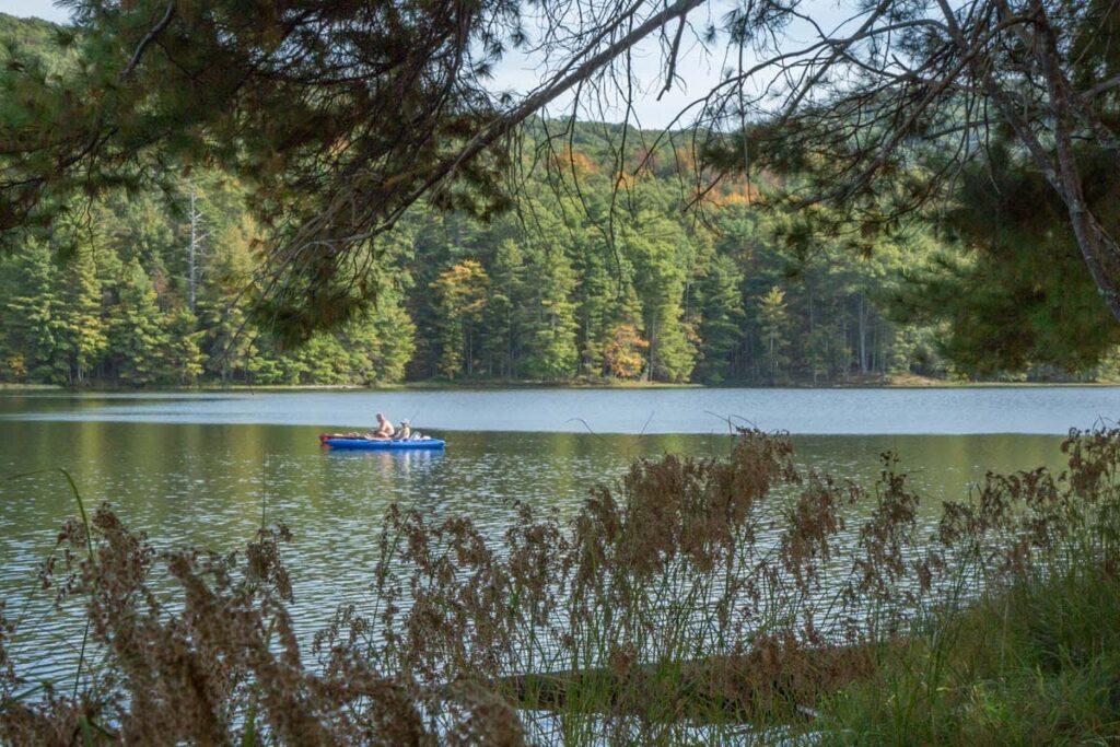 canoeing on Lake Sherwood