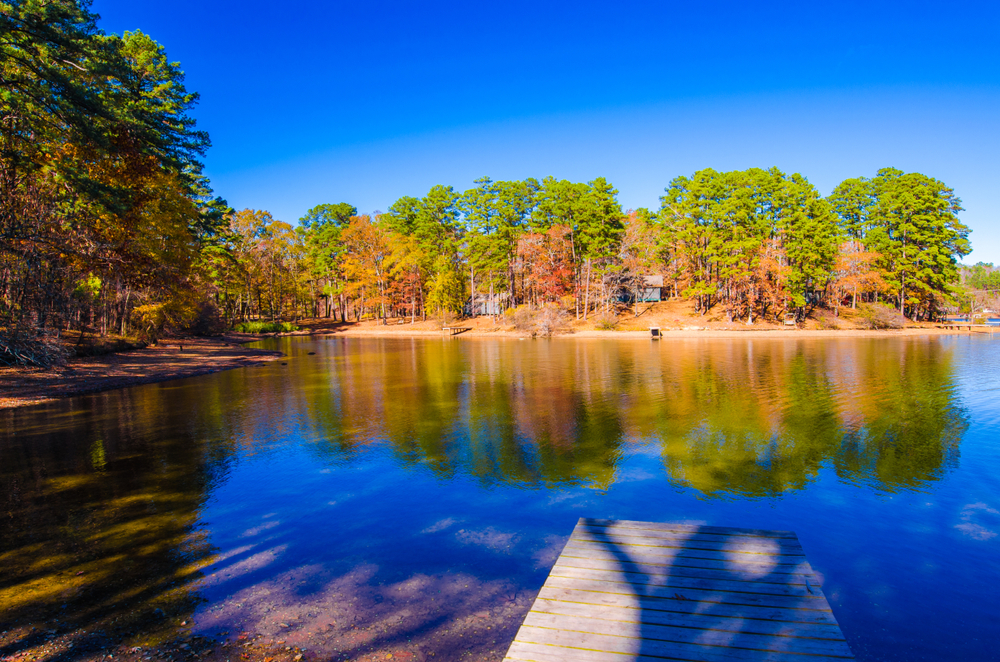 Lake Catherine State Park in Arkansas State of US.