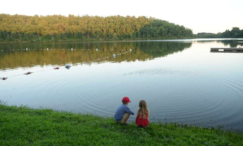 Lake Bennett in Woolly Hollow State Park