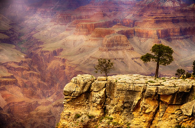 scenic view of a cliff at the Grand Canyon