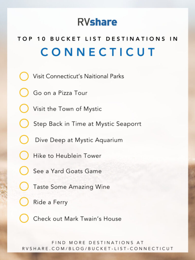 Connecticut Bucket List