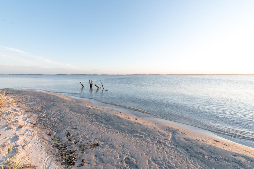 Private beach in Dewey Beach, Delaware
