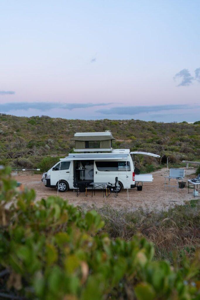Campsite with van