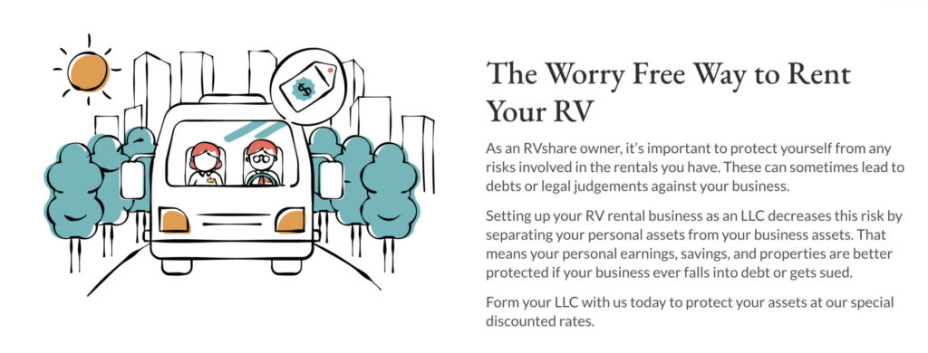 LLCs make renting out your RV worry free