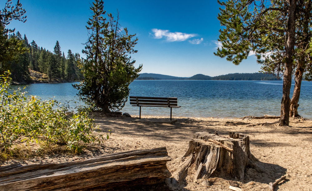 Mid Afternoon View of Payette Lake Near McCall, Idaho