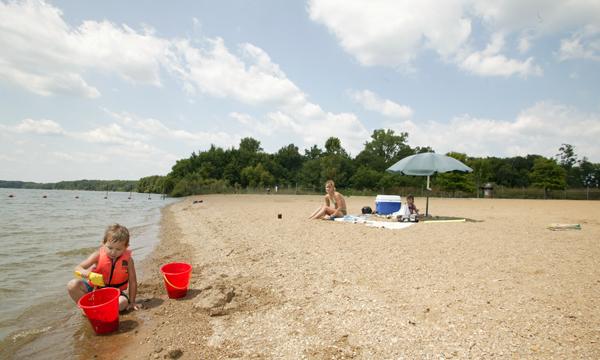 Clinton Lake State Recreation Area Beach