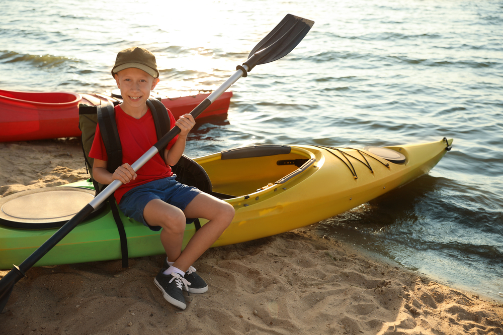 Kayaking is popular at Dream Lake State Recreation Area