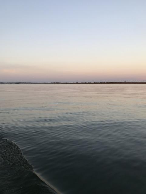 the Gulf of Mexico seen from Galveston Island, Texas