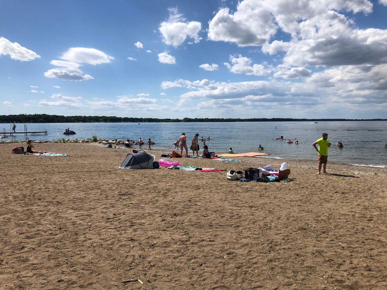 Ainsworth-Orleans Beach along Big Spirit Lake in Iowa