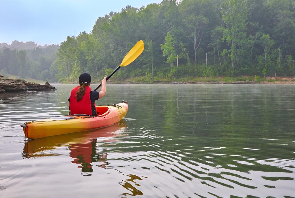 Female Kayaker on Barren River Lake