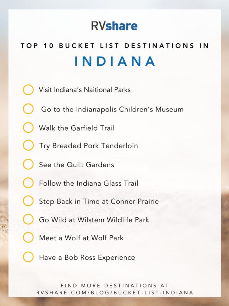 Indiana bucket list