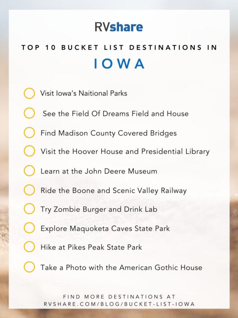Iowa bucket list