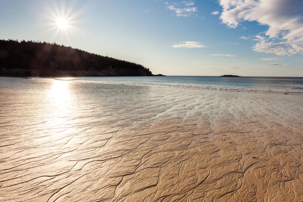 Sandy beach, Acadia National Park, Mount Desert Island, Maine, USA