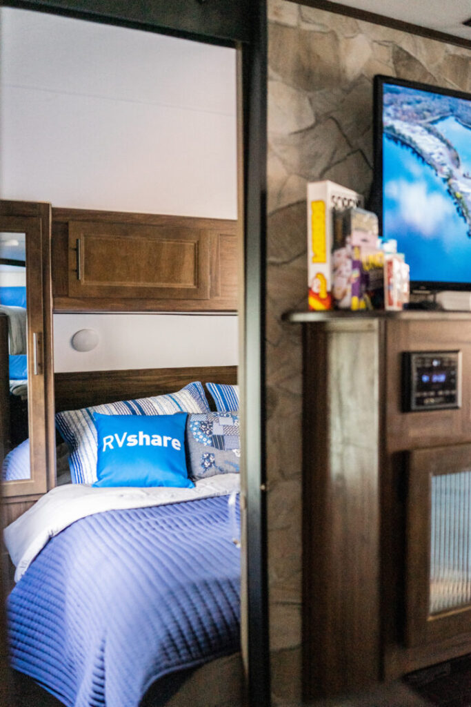 RV interior - living room and bedroom area