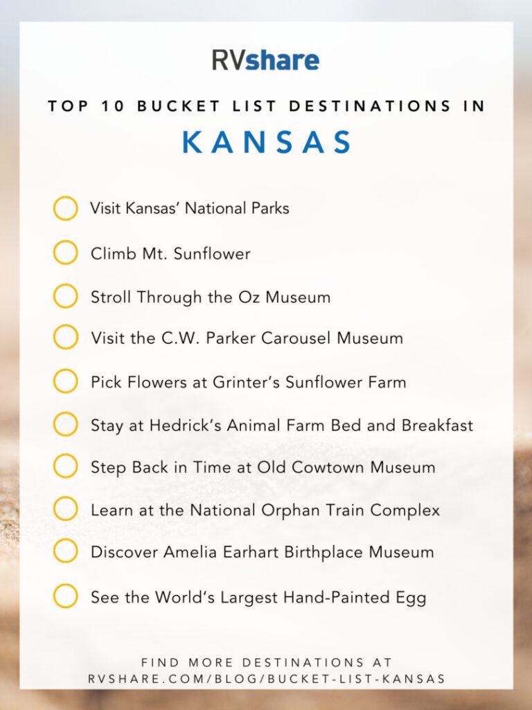 Kansas bucket list