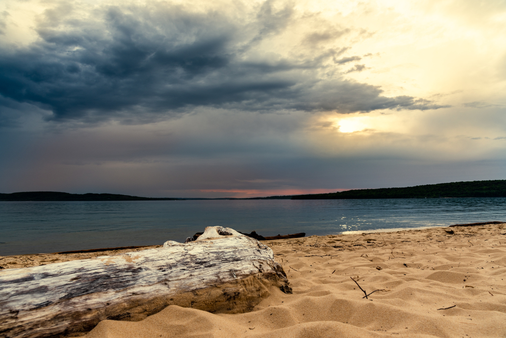 Sand Point Beach- sunset at sand point beach in the upper peninsula of Michigan in the beautiful Munising area.