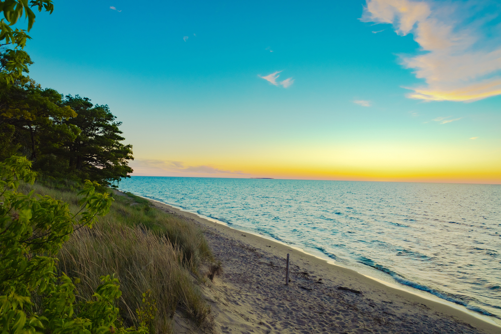 sunset in Sleepers State park Caseville Michigan