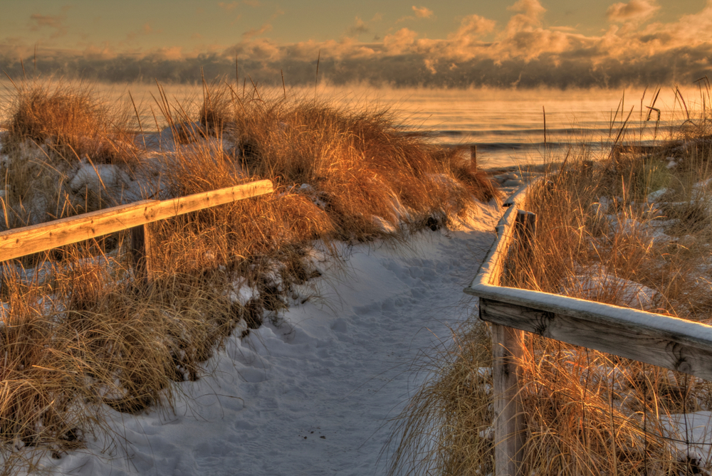 Park Point is a six mile long White Sand Beach in Duluth, Minnesota on Lake Superior