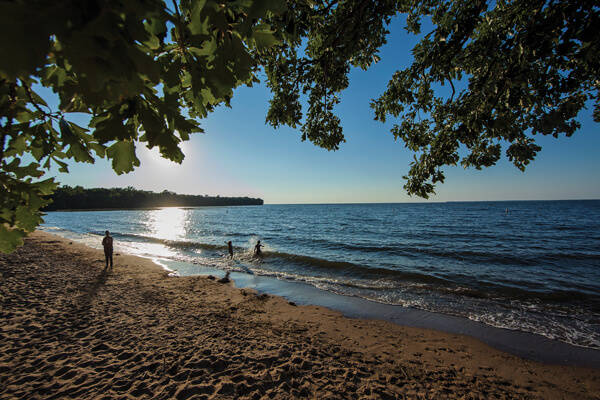 Father Hennepin State Park beach
