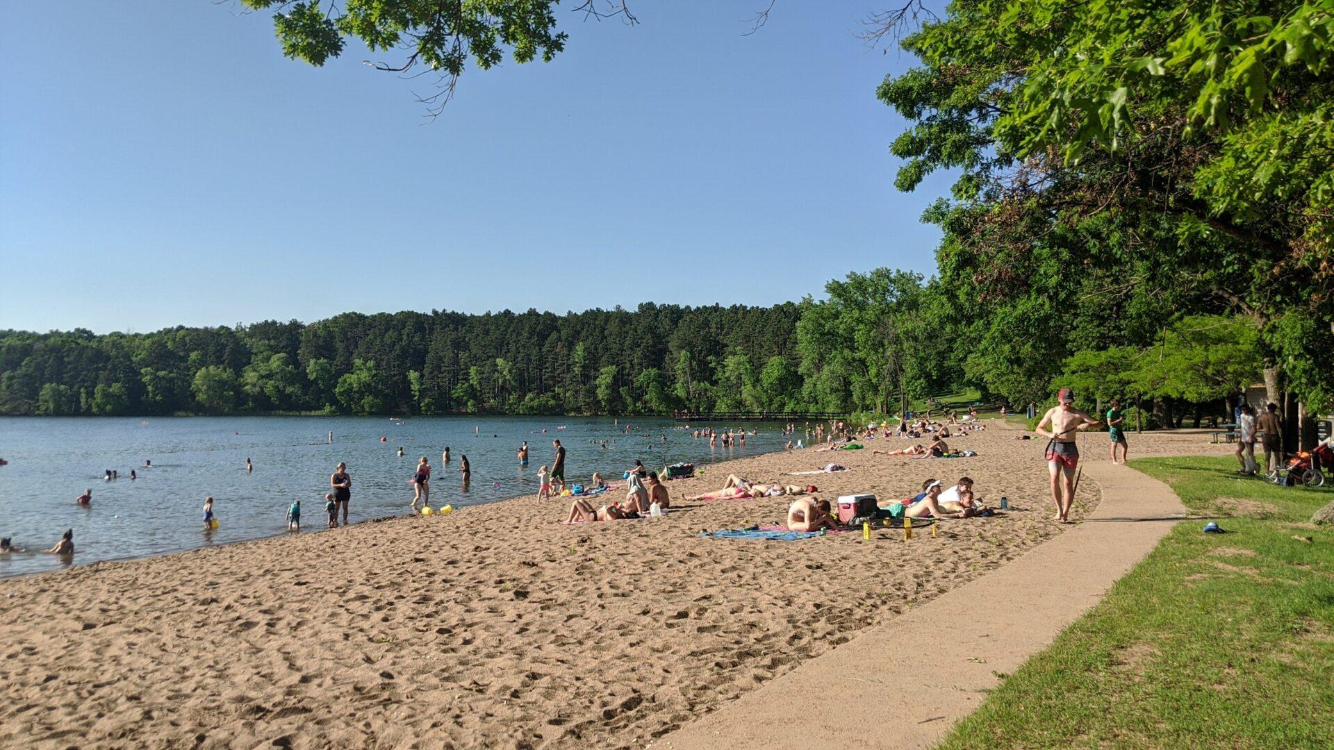 Square Lake Park Beach minnesota